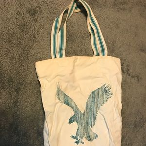 American Eagle canvas tote